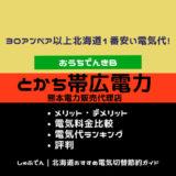 とかち帯広電力 北海道エリア メリットデメリット 評判 電気代比較ランキング