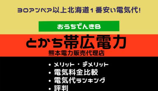 とかち帯広電力(熊本電力)|メリットデメリット・評判・北海道エリア電気料金比較